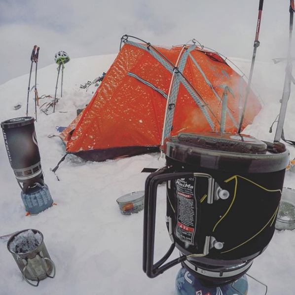 jetboil and white gas stove